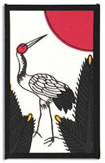 Traditional January crane card